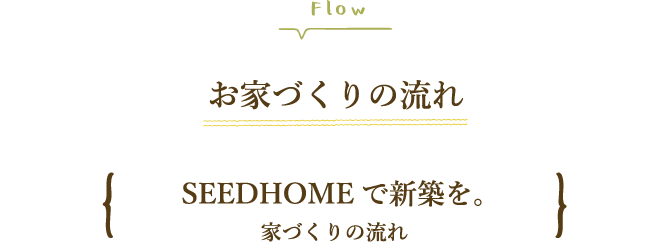 SEEDHOME:家づくりの流れ