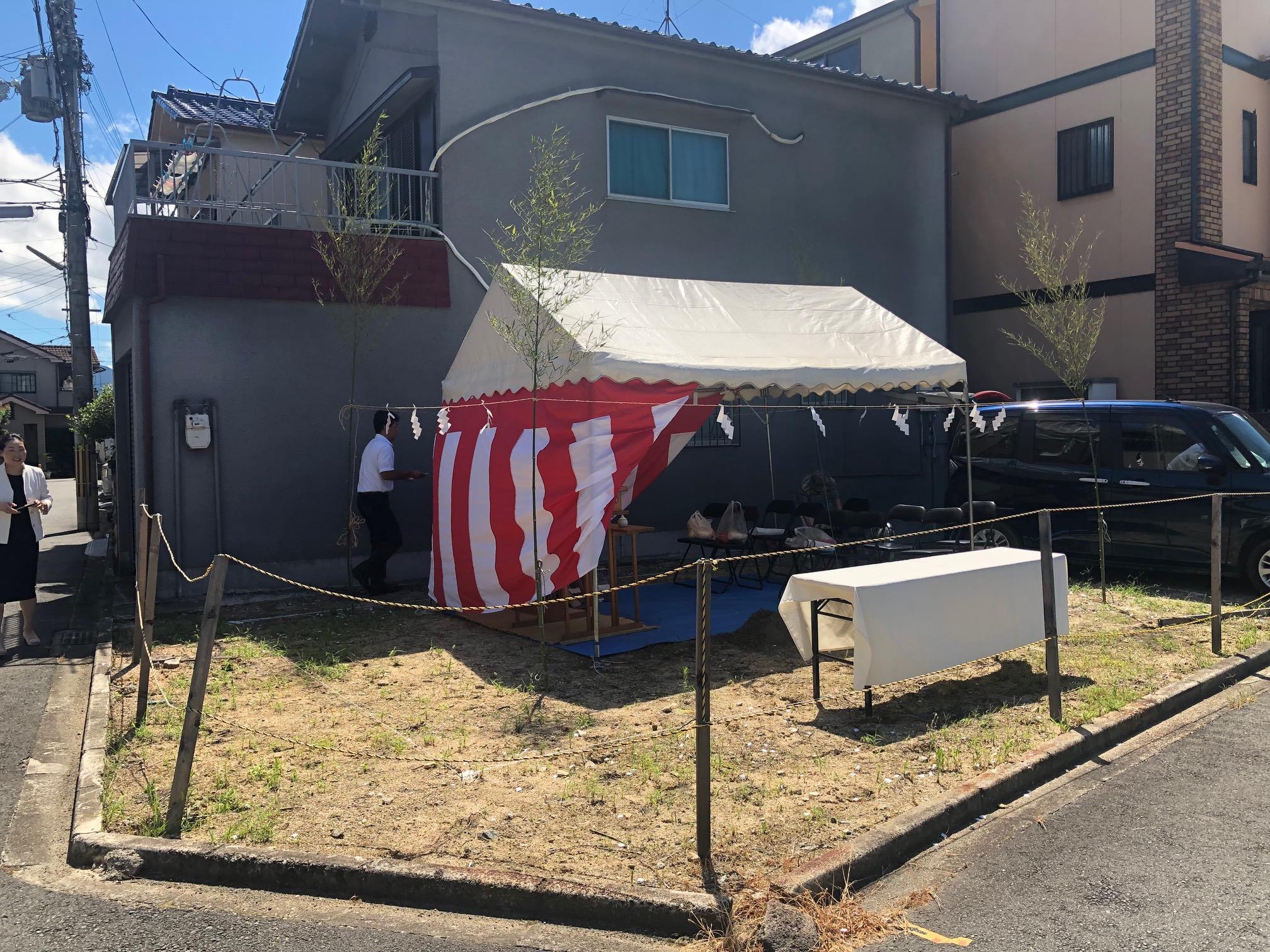 富田林Z様邸の地鎮祭|大阪府堺市の工務店・シードホーム