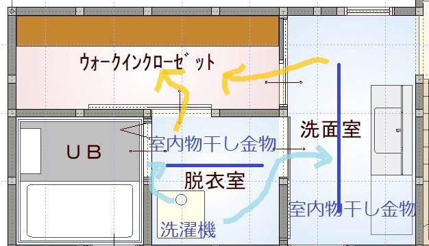 家事動線の図面【堺市の工務店SEEDHOME】
